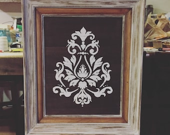 Wood Picture Frame and Painted Picture