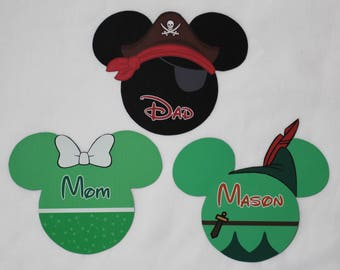 Disney Cruise Magnet - Small Mickey w/ Name - Peter Pan