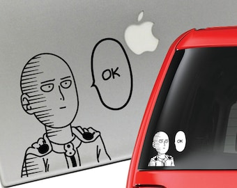 Saitama One Punch Man Anime Vinyl Decal for Laptop or Car
