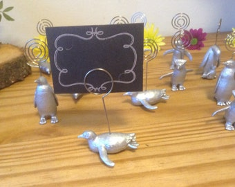 Penguin place card holder wedding favour bag included with each penguin  X50