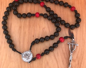 Holy Spirit Rosary with Traditional Crucifix comes with Rosary Pouch