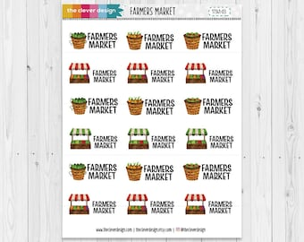 Farmers Market Planner Stickers | Farmer's Market | Planner Stickers | 17341-03