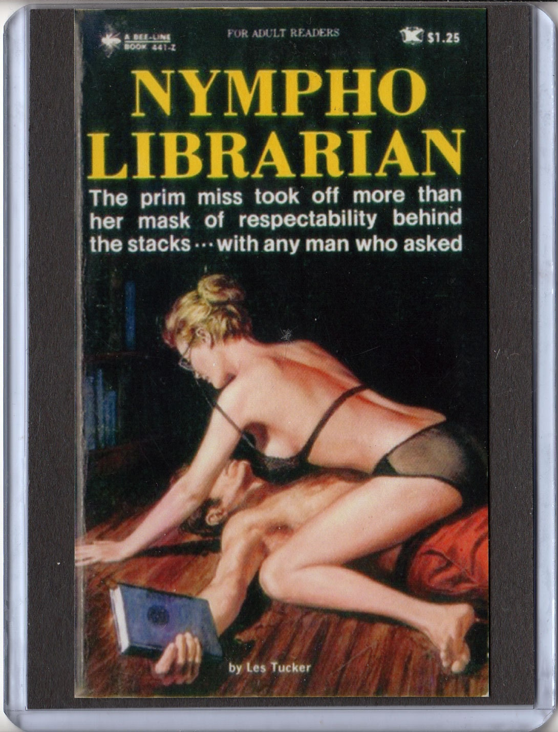 pulp paperback magnet 3 x 4 inch campy cover art mature nympho