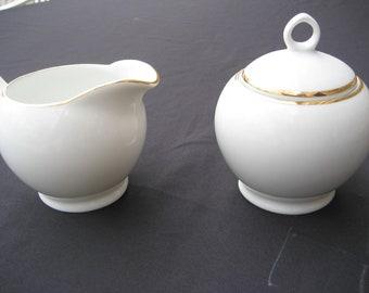 Royal Doulton Creamer/Lidded Sugar Bowl-Simply Gold