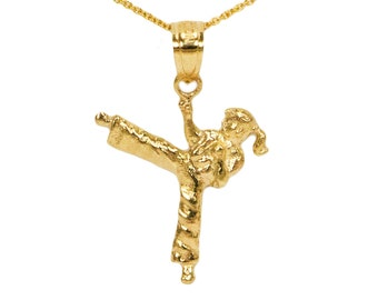10k Yellow Gold Karate Necklace