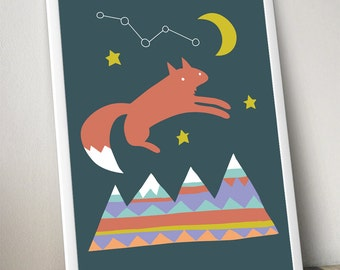 mountaineer fox poster and mountaineer rabbit poster 24X36