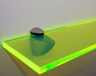 Acrylic Coloured Shelves - Green Neon for Interiors
