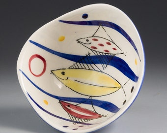Stavangerflint, Norway - INGER WAAGE - Small Bowl with Fish