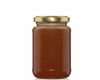 Natural organic bee honey with royal jelly, tender jelly, bee pollen and propolis /250 gr