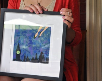 ANY FAERIE TALE small framed limited edition prints of the faerie tale feet series by hallie m. bertling art print framed