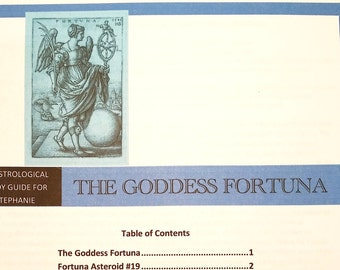 Goddess Fortuna, Astrology, Fortuna, Goddess,  Part of Fortune, personalized, educational module,  personalized gift