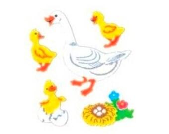 Goose and Gosling stickers felt animals Sandylion 16.5 x 5 cm rare creative cardmaking scrapbooking