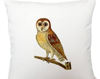 Cushions/ cushion cover/ scatter cushions/ throw cushions/ white cushion/ brown owl cushion cover