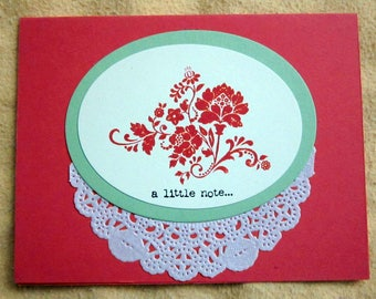 Handmade Note Card; Handmade Greeting Card; A Little Note card; Stampin' Up! Card