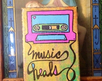 Music Heals Mixtape Painting