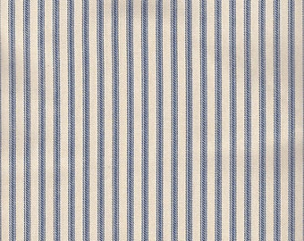 Navy blue ticking stripe chair pad, seat cushion, other colors