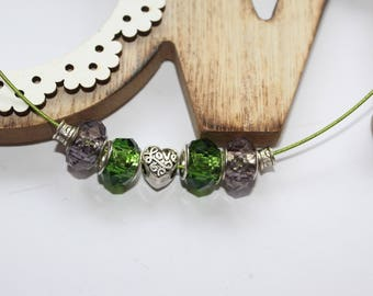 Lucky green love necklace