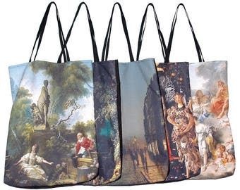 Painting Art tote bags Fragonard Botticelli Boucher Grimshaw rococo renaissance gothic victorian vintage angels mythology gift for her mom