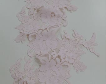 Light pink lace Trim, French Lace, Chantilly Lace, Bridal lace, Wedding Lace, Garter lace, Evening dress lace, Lingerie Lace, LL86002_3