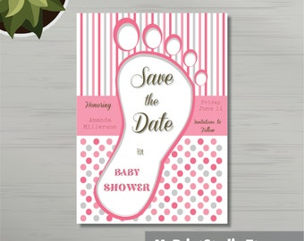 Save the Date Baby Boy Shower Card Template Save the Date