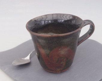 Stoneware Tenmoku mug