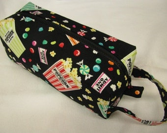 Movie Snacks Cosmetic Bag Makeup Bag LARGE