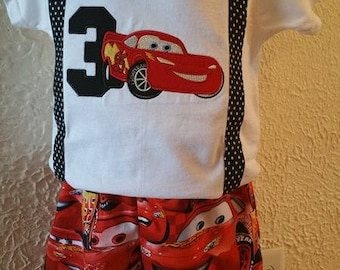 Cars Lightning McQueen Birthday Outfit