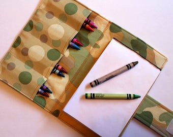 Crayon Holder - Kids Coloring - Travel Toy - Camouflage Crayon Case - Coloring - Kids Coloring - Children's Gift - Party Favor