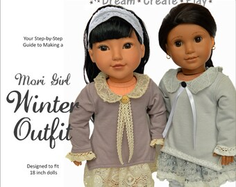 Mori Girl Winter Outfit for 18 inch dolls