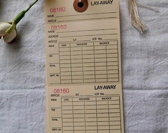 15 - Layaway Tags With Strings