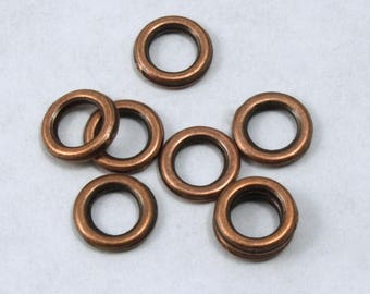 4mm Antique Copper Soldered Jump Ring #RJD036