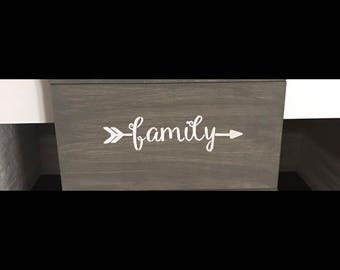Arrow signs-arrows-wood-distressed-love-family-hope-handmade-hand painted-home decor-wall signs