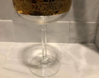 Voluptuous gold and crystal chalice