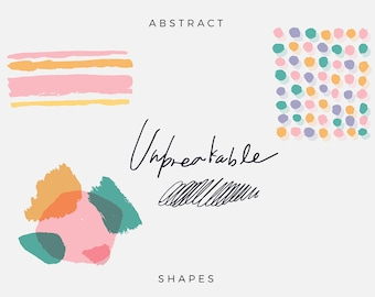 Unbreakable Abstract Patterns, Hand Paint Clip Art, Digital Download, Abstract Vector Art Graphic, Freehand Pattern, Abstract Card Design
