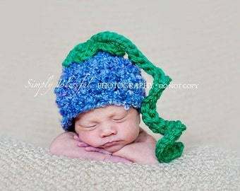 Blueberry Hat Baby Newborn Crochet Photography Prop Ready Item