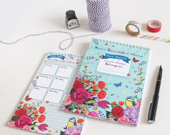 Weekly Planner - Journal - Make Beautiful Plans - Weekly Journal - To Do List - Weekly To Do List - Desk Planner - Notepad