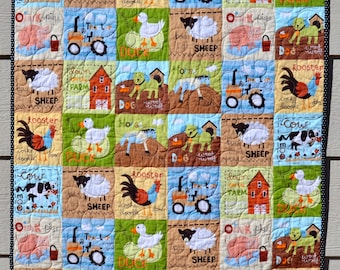At The Farm Baby Quilt, Robert Kaufman, Leslie Granger Designs