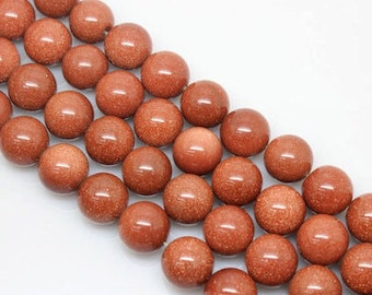 15.5Inch Goldstone Round Beads, 6mm 8mm 10mm 12mm Size