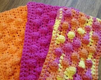 3 Crochet Swiffer covers in pink yellow & orange tones, swiffer duster, swiffer mop, reusable Swiffer pad,  Swiffer sweeper
