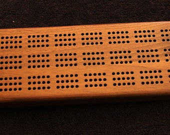 Custom made cribbage board. Made from solid walnut wood. Gift for him, gift for her with superior craftsmanship