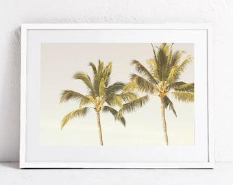 Palm Trees Print, Palm Print Art, Palm Printable Art Print, Palm Trees Photography Digital Print Download, Palms Wall Art Print, Horizontal