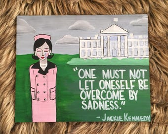 Jackie Kennedy Strong Woman Illustration