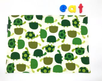 Montessori Placemat (Kids Lunch Placemat, Turtle Gift, Childrens Placemat, Small Place Mat, Large Placemat, Back To School, Cotton Placemat)