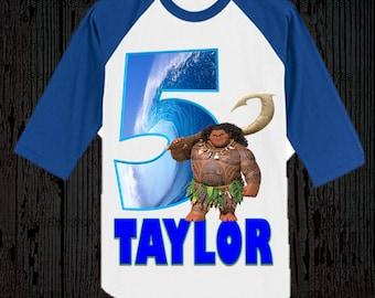 Moana Boy's Shirt - Moana Boy's Birthday Shirt