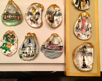 Choose Your Favorite 3 out of 9 Total New Orleans Theme Shells  to Place on Canvas