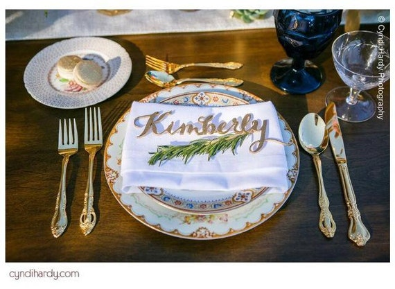 Place Setting, Guest Seating, Laser Cut Names, Guest Names, Wedding Place Cards, Place Card, Guest Setting, Custom Name, Rose Gold Wedding