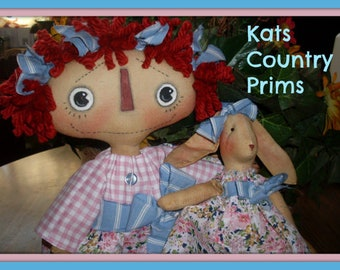Primitive Cloth Doll PATTERN - Somebunny to Love - KCP165