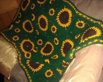 Sunflower Lap Afghan