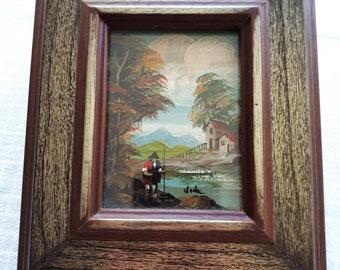Miniature Original Italian Oil Painting