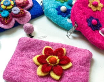 Handmade felt coin purse